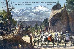 Colorado - Scene From Mt Manitou Park -  Pike's Peak - Etats-Unis