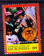Micronesia 2000 MNH, American Women Win Right To Vote, Music, Flags - Music