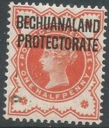 Bechuanaland Protectorate. 1897-1902 QV Of GB O/p. ½d Vermillion MH SG 64 - Bechuanaland (...-1966)