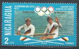 Nicaragua 1976. Scott #1023 (M) Rowing, East Germany Winners 1972, Olympic - Nicaragua