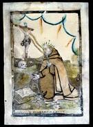 H.PRENTJE IMAGE PIEUSE - GEKLEDE PRENT - B.JOANNES A CRUCE - PRENT GEVLEKT - ZIE STAAT PRENT 15 X 10.5 CM - Images Religieuses