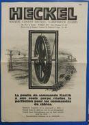 Société Ernest Heckel à Sarrebruck (Sarre) : Poulie De Commandes Karlik (mines) - 1927 - Allemagne