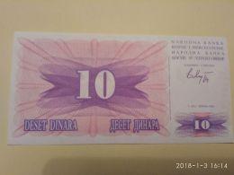 10 Dinari 1992 - Bosnia Erzegovina