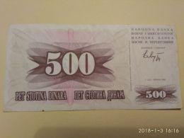 500 Dinari 1992 - Bosnia Erzegovina