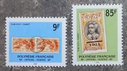 Polynésie - YT Service N°27, 28 - Timbres Et Cachets Sur Timbre - 1997 - Service