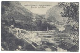 Cpa Gard, Anduze - Sites Pittoresques, Quartier De La Gare - Anduze