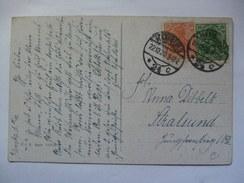 GERMANY - Inflation Period Christmas Postcard - 1920 Hamburg To Stralsund - 30pf - Deutschland