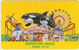 JAPAN - FREECARDS-1709 - 330-28979 - CAR - DOLPHINE - ELEPHANT - LION - ZEBRA - CARTOON - Japon