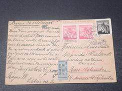 BOHÊME ET MORAVIE - Carte Postale De Prague Par Avion Pour La France En 1945 - L 11136 - Lettres & Documents