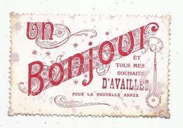 Cp , 86 , Un Bonjour Et Tous Mes Souhaits D'AVAILLES Pour La Nouvelle Année , Voyagée 1909, 2 Scans - France