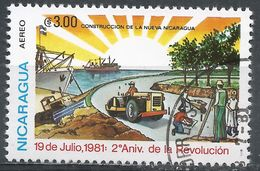 Nicaragua 1981. Scott #C974 (U) Revolution, Construction - Nicaragua