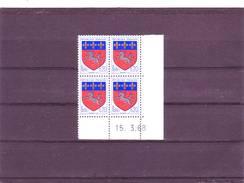 N° 1510 - 0,20F Blason De Saint LO   - 4° Tirage/4° Partie Du 11.3 Au 25.4.68 - 15.03.1968 - - Dated Corners