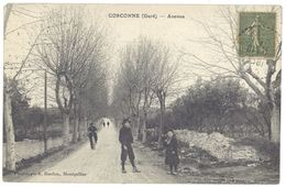 Cpa Gard, Corconne - Avenue - France