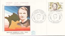 FRANCE FDC DU 5 NOVEMBRE 1983 MARSEILLE BERTHE ALBRECHT - 1980-1989