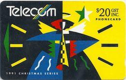 New Zealand - Angel - Christmas - 10IDO - 20$, 30.000ex, 1991, Used - New Zealand