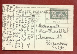 OLIMPIADI  FRANCIA 1924 Annullo PROPAGANDA OLIMPICA SU 45 TIPO MERSON CARTOLINA DEL 25/6/24 - Estate 1924: Paris