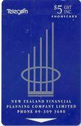 New Zealand - Financial Company Logo - Advertising Cards - 10.000ex, 1993, Used - New Zealand