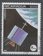 Nicaragua 1981. Scott #1129 (U) Space Communications, Satellites - Nicaragua