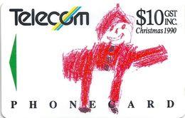 New Zealand - Father Christmas - 1990, 10$, 60.000ex, Used - New Zealand
