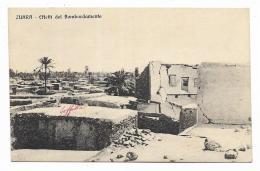 ZUARA - EFFETTI DEL BOMBARDAMENTO  VIAGGIATA FP - Libya