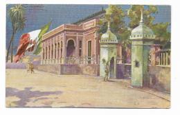 TRIPOLI - ENTRATA AL PALAZZO DEL COMANDO  ILLUSTRATA COLOMBO  1915 FP - Libya