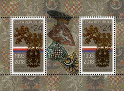 Czech Republic - 2018 - 25th Anniversary Of The Czech Republic - Mint Souvenir Sheet - Czech Republic