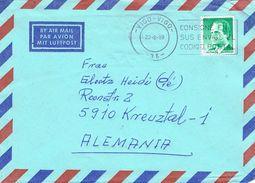 26884. Carta Aerea VIGO (Pontevedra) 1989 A Alemania - 1931-Aujourd'hui: II. République - ....Juan Carlos I