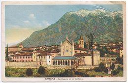 Gemona- Santuario Di S. Antonio - Piega Angolare E Alcuni Difetti -no Bollo - Udine