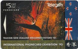 New Zealand - Nz Flag - Advertising Cards - 10.000ex, 1993, Used - New Zealand