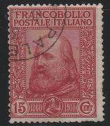 1910 Garibaldi 15 C. Rosso US - 1900-44 Vittorio Emanuele III