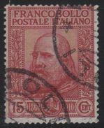 1910 Garibaldi 15 C. Rosso US - Usati