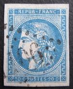 LOT R1510/240 - CERES EMISSION DE BORDEAUX N°45B - LGC - Cote : 100,00 € - 1870 Ausgabe Bordeaux