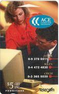 New Zealand - ACE Computer Training - Advertising Cards - 10.000ex, 1993, Used - New Zealand