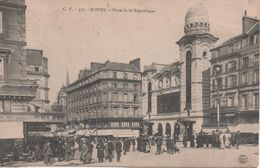 ROUEN PLACE DE LA REPUBLIQUE ABIMEE AU DOS - Rouen