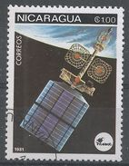 Nicaragua 1981. Scott #1130 (U) Space Communications, Satellites - Nicaragua