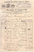 PUY DE DÔME - CLERMONT FERRAND - MAISON F. GAUVIN - SUCRE D'ORGE ET FRUITS CONFITS DE ROYAT - 1901 - Food