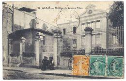 Cpa Gard, Alais ( Alès ) - Collège De Jeunes Filles - Alès