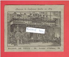 FABRIQUE DE COURONNES MORTUAIRES 59 AVENUE D ORLEANS PARIS 14 EN 1901 MARCOUX ROUSSET MAINTENANT AVENUE GENERAL LECLERC - Arrondissement: 14