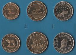 MACEDONIA COIN SET 6 MONNAIES 50 DENI - 50 DENARI  1993 - 2008  ANIMAL - Macedonia
