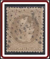 France 1863-1876 - Oblitération De Paris - Etoile 34 Avenue Joséphine Sur N° 30 (YT) N° 30 (AM). - 1849-1876: Période Classique