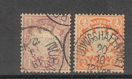 Allemagne _ Baviére Royaume  ( 1876) Série  N°46/47 - Bavière