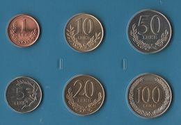 ALBANIA COIN SET 6 MONNAIES 1 LEK - 100 LEKE  1996 - 2000  PELICAN BIMETAL - Albania