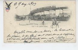 U.S.A - NEW YORK - Elevated Railroad Curve 110th Street - Transports