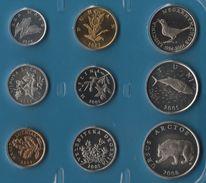 CROATIA COIN SET 9 MONNAIES 1 LIPA - 5 KUNA  2001 - 2008  ANIMALS - Croatia