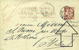 29298 France, Ordinary Postmark Of Nizza Nice Place Garibaldi, 1902 Circuled Card - Celebrità