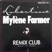 """MAXI 45 RPM (12"""")  Mylène Farmer  """"  Libertine  """" - 45 Rpm - Maxi-Single"""