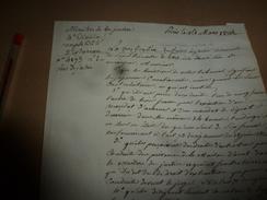 1819 Ministre De La Justice -->REMARQUE :Signifier Un Jugement Contradictoire Est Frustratoire Puisqu'il Est Inutile,etc - Manuscrits