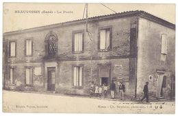 Cpa Gard, Beauvoisin - La Poste ( Animée ) - France