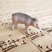 Figurine Ancienne Allemande Cochon Miniature Feve Biscuit 1890 Poupée Bibelot - Non Classés