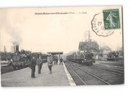 CPA 60 Saint Omer En Chaussée La Gare Et Le Train - Autres Communes